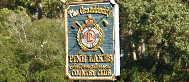 Pine Lakes Country Club Sign