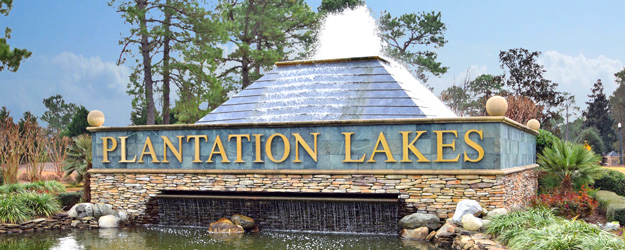 Plantation Lakes Sign
