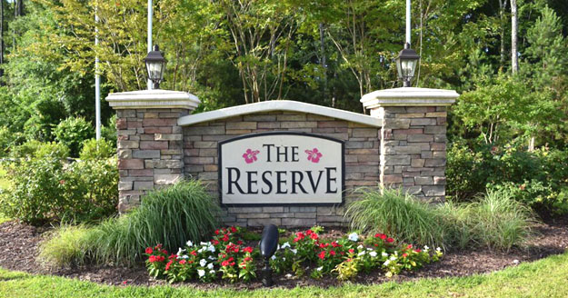 The Reserve at Market Common Sign